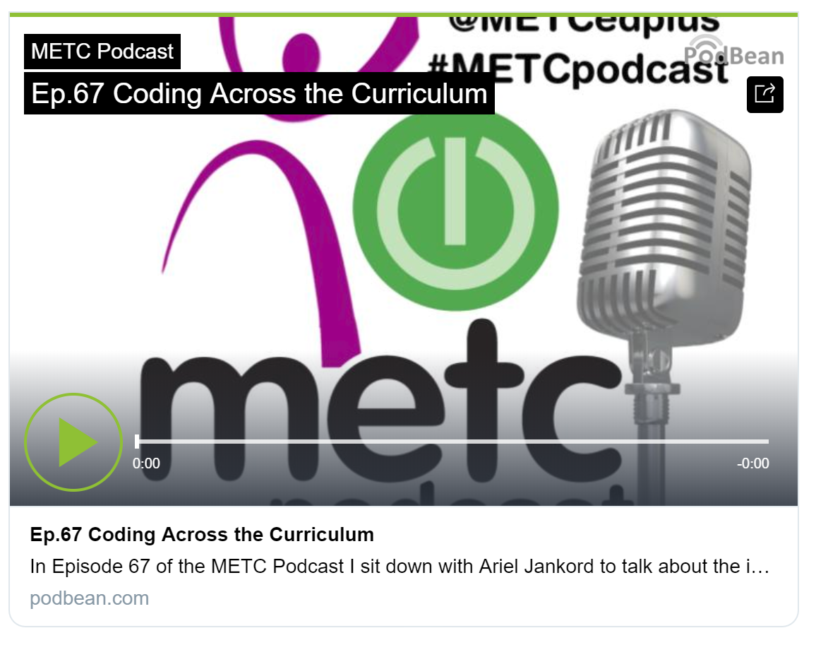 METC Podcast: Coding Across the Curriculum